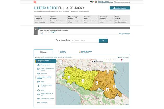 Allerte meteo, come funziona il nuovo portale regionale
