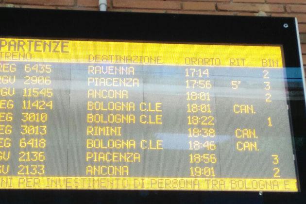 Persona investita da un treno a Ozzano, ritardi e convogli fermi