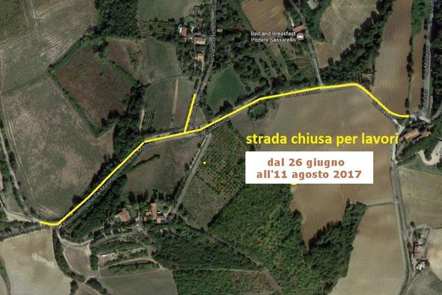 Nuovi lavori a Varignana, chiusa per lavori parte di via Ca' Masino