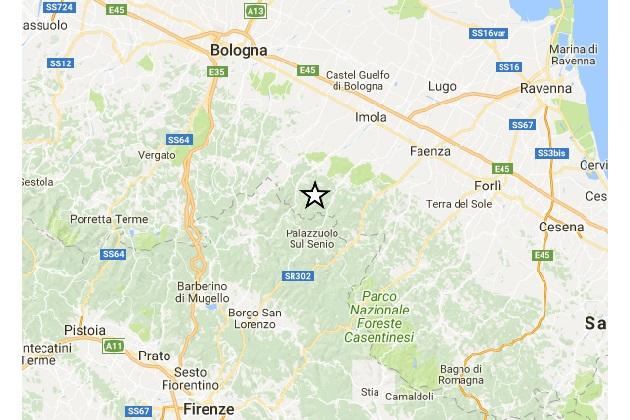 Terremoto, scossa 3.7 con epicentro a Castel Del Rio registrata da Ingv