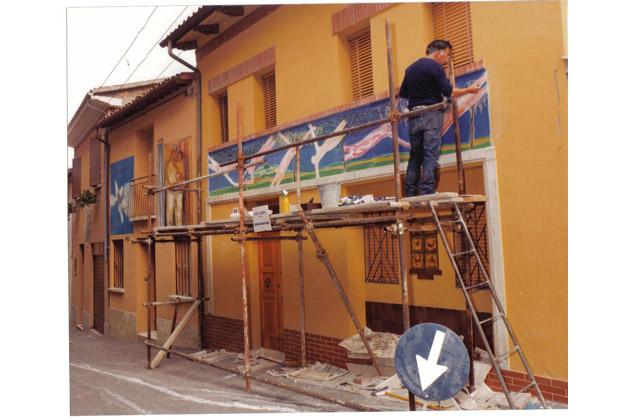 Prove generali di Muro Dipinto con la mostra #Murales di Saetti, Scarpa e Mazzetti