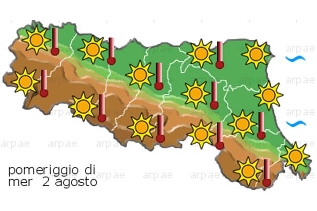 Nuova allerta per il caldo: bollino arancione su Medicina, Castel Guelfo, Imola e Mordano