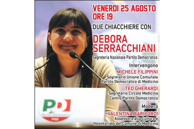"""Festa de l'Unità di Medicina, due """"chiacchiere"""" con la vice segretaria del Pd Debora Serracchiani"""