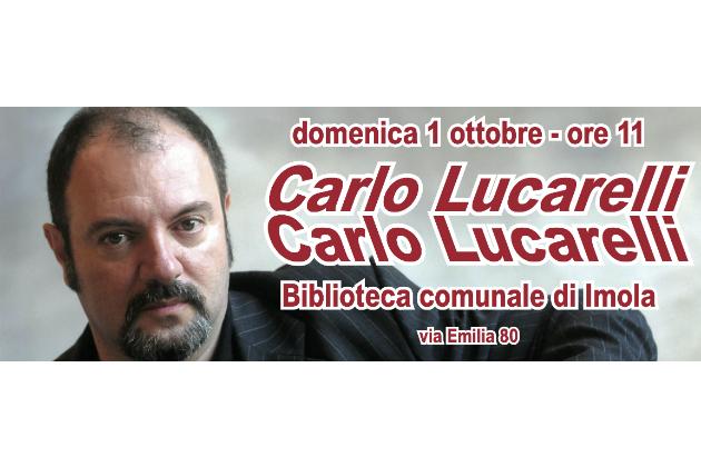 """Carlo Lucarelli domenica 1 ottobre in Biblioteca a Imola per le vittime dei reati e la premiazione di """"Turno di Notte"""". Il video"""