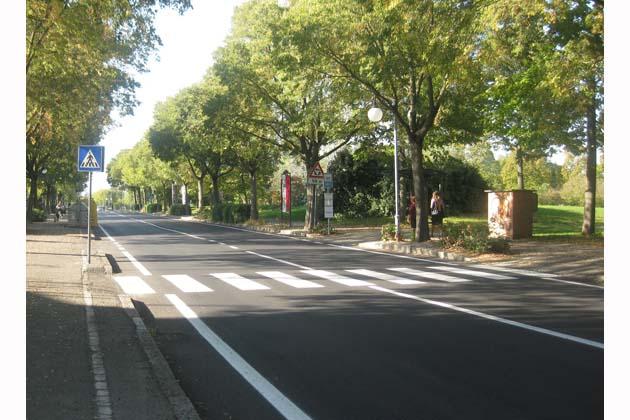 Asfaltata via Scania, compresa la rotonda su via Torricelli