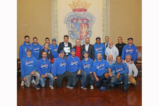 Baseball, i campioni d'Italia dei Redskins Imola ricevuti in Comune