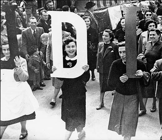 La sfilata delle donne dell'Udi