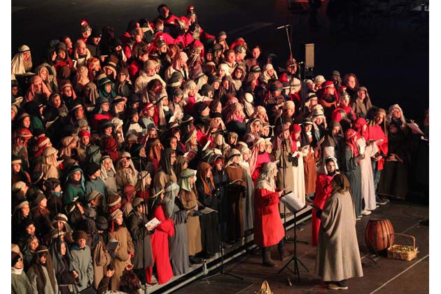 Accadde a Betlemme, 500 sul palco