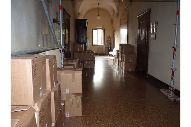 Lavori a Ganzanigo per accogliere l'archivio