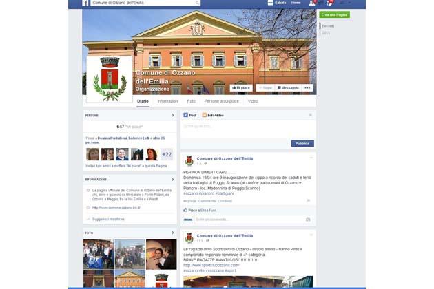 Il Comune di Ozzano è su Facebook