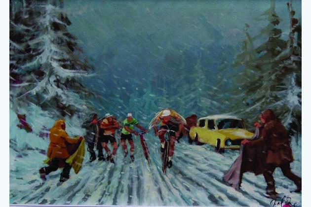Dal Re, pittore dei ciclisti, per il Giro