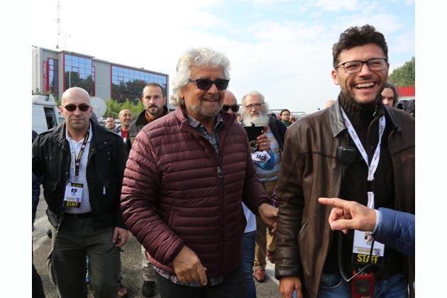 M5S all'autodromo, Beppe Grillo, Di Maio, Di Battista e gli altri