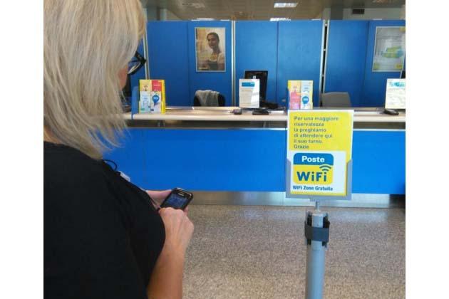 Poste, wi-fi gratuito in via Grieco
