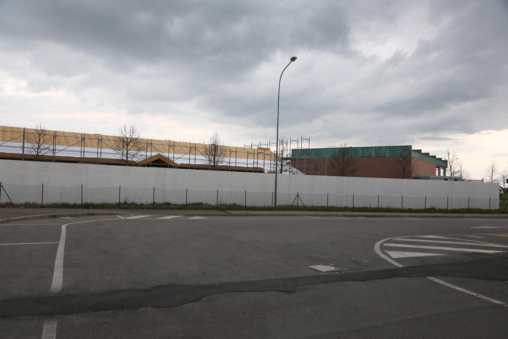 Murales per il cantiere della materna