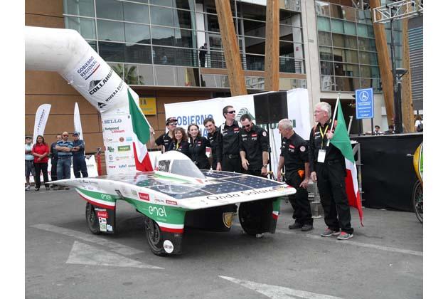 La macchina solare Emilia3 seconda in Cile