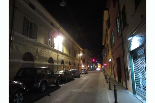 Illuminazione a led nel centro storico