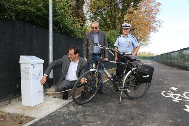 Sono entrate in funzione le pompe per gonfiare le bici, a costo zero