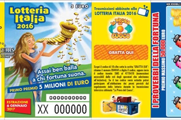 Uno dei biglietti da 25.000 euro della Lotteria Italia è stato venduto a Castello