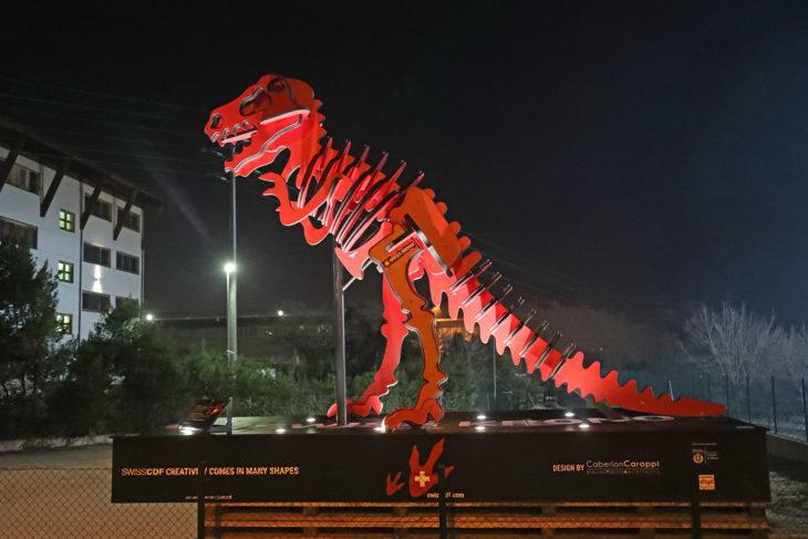 Arriva dalla Svizzera il dinosauro di Imola Legno