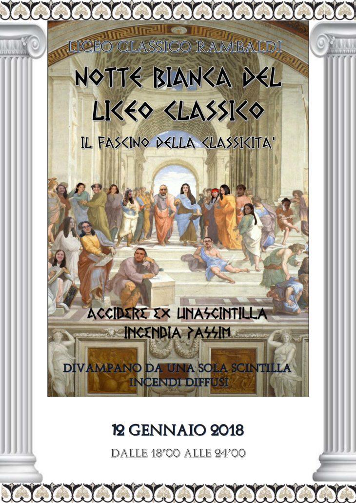"""Una notte al liceo, anche a Imola si festeggia la """"notte bianca del liceo classico'"""