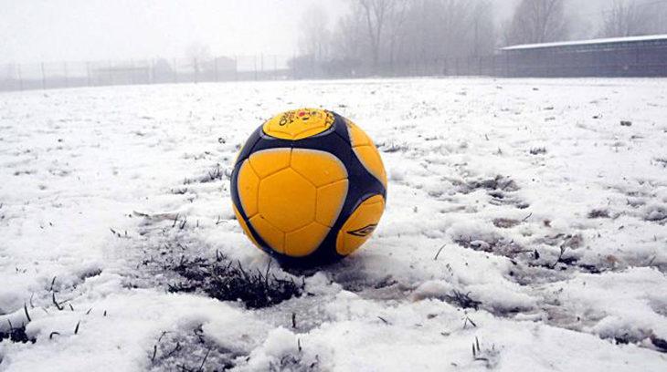 Calcio dilettantistico,  maltempo e neve protagonisti. Il programma delle gare rinviate nel weekend