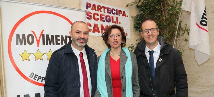 Elezioni comunali, Manuela Sangiorgi candidata sindaca del M5s, Patrik Cavina vice