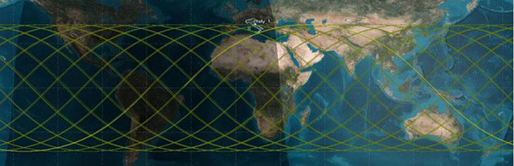 Spazio, gli echi radar della Tiangong-1 raccolti dalla Croce del Nord