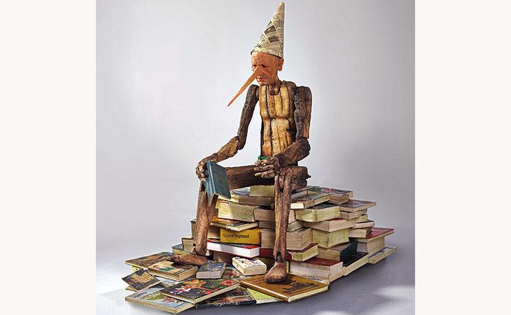 Il Pinocchio degli artisti Bertozzi e Casoni in mostra da domani al Centro Gianni Isola