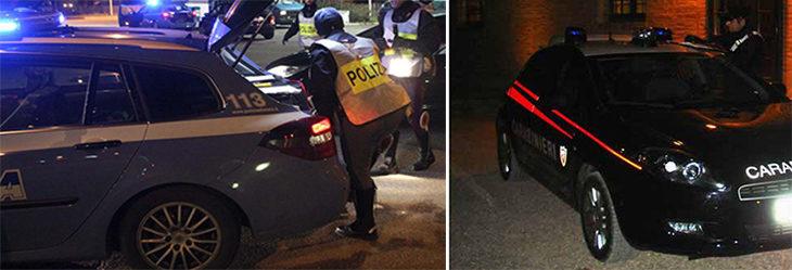 Inseguimento nella notte sulla Montanara. Due ladri tentano di sfondare un posto di blocco. Arrestati