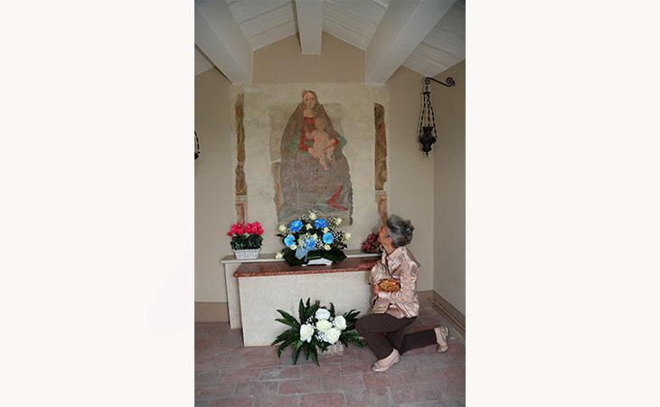 Restaurata la Madonna con bambino nella celletta devozionale di Cantalupo
