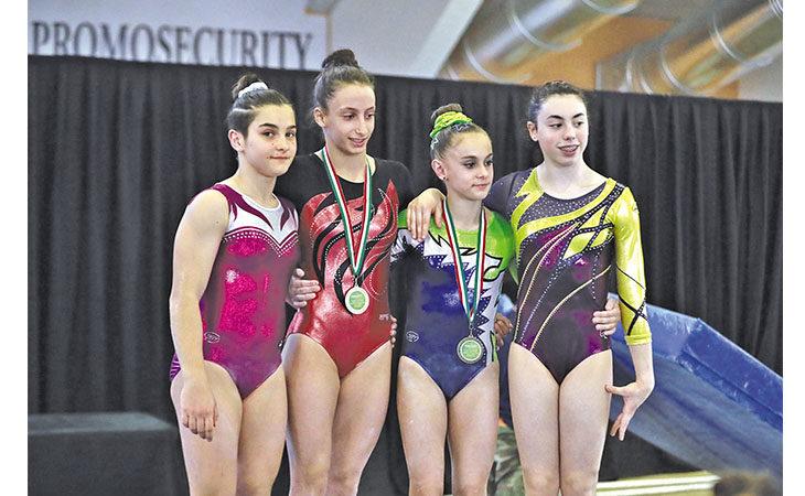 Ginnastica Biancoverde, medaglie tricolori per le Juniores Carolina James e Giada Montanari