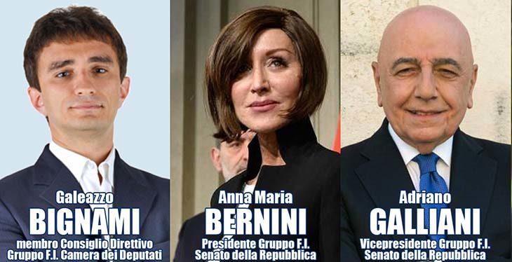 #ElezioniImola2018, Forza Italia chiude la campagna elettorale per Palazzolo con Bernini, Galliani e Bignami
