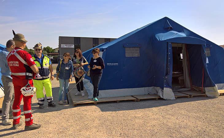 Weekend… con il terremoto a Castel San Pietro. Campo di accoglienza, sfollati e volontari durante l'esercitazione. IL VIDEO