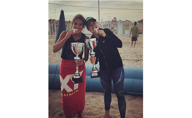 Beach tennis, la mordanese Giulia Gasparri si è laureata campionessa italiana