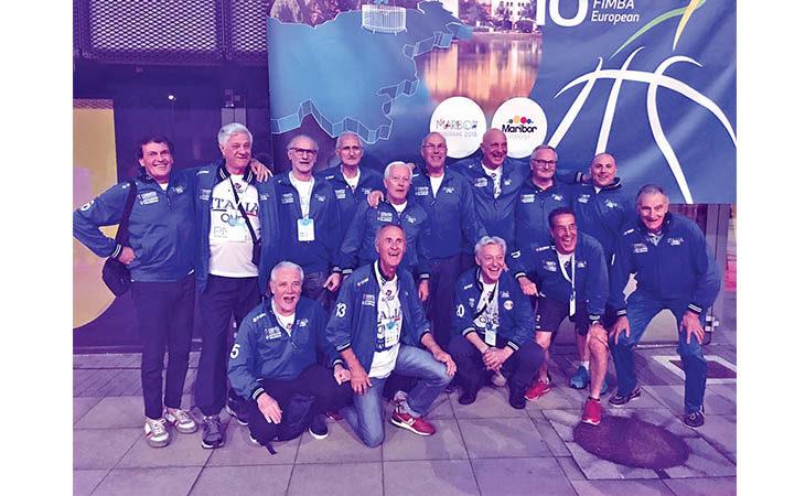 Basket Over 65, quinto posto agli Europei di Maribor per l'Italia allenata da Tullio Chiocciola