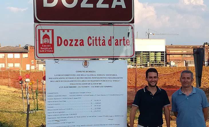 A Toscanella un nuovo tratto di ciclabile lungo la via Emilia e in via Santi grazie al bando per le periferie