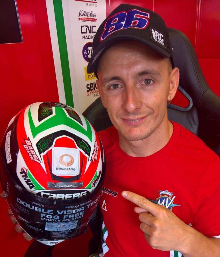 Diario di un pilota con Motosapiens sul casco: da Misano, Ayrton Badovini (Mv Agusta, mondiale Supersport)