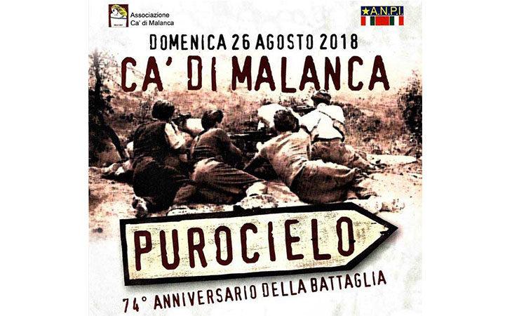 A Ca' Malanca un'iniziativa in ricordo della 36ª Brigata Garibaldi a Purocielo