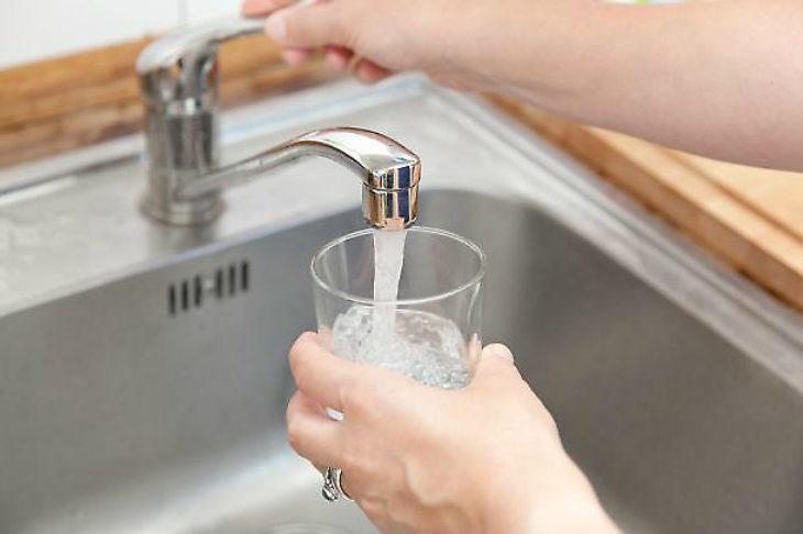 Osteria Grande, la qualità dell'acqua del rubinetto è di buona qualità, ma più dura perché ricca di sali