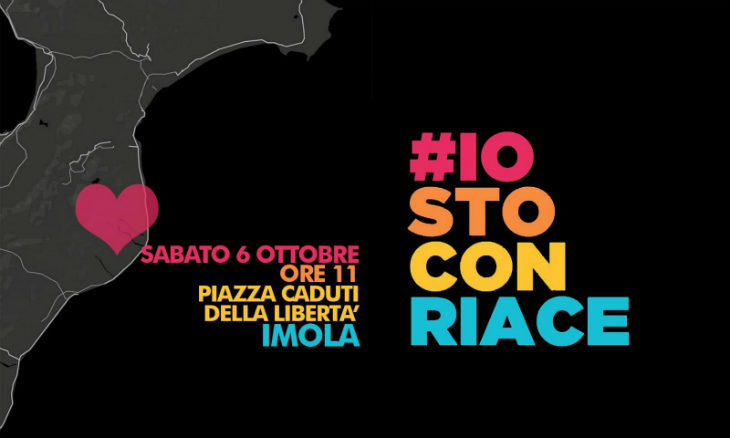 Sabato 6 ottobre a Imola in piazza Caduti per la Libertà il presidio a favore del sindaco di Riace Mimmo Lucano
