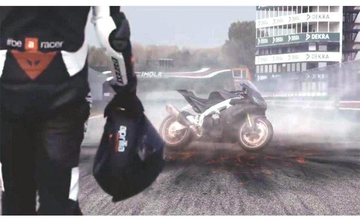 L'autodromo di Imola e Max Biaggi protagonisti nel nuovo spot dell'Aprilia
