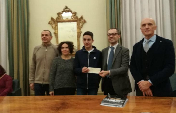 Luca Bacchilega è l'alunno più buono del 2018, a lui il premio della Fondazione Santa Maria Goretti