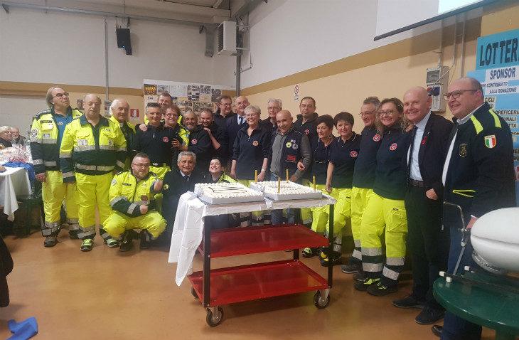 La Protezione civile di Medicina compie 10 anni, grande festa per i volontari insieme al sindaco