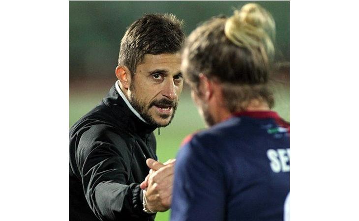 Calcio serie C, il tecnico Alessio Dionisi nel post partita di Imolese-Ravenna. IL VIDEO