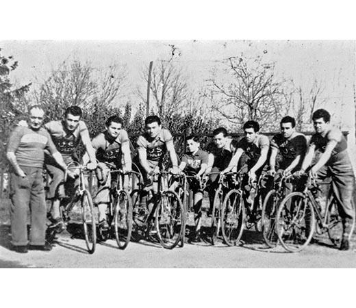 I ciclisti dell'Unione sportiva imolese