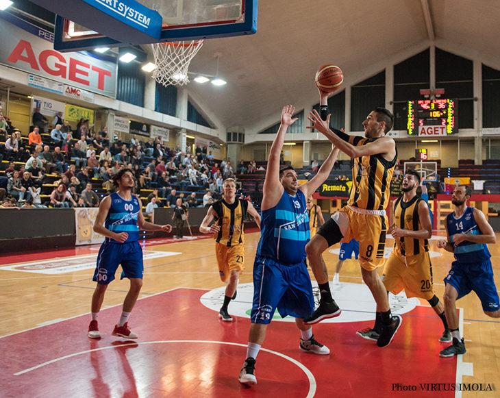Basket C Gold, la Vsv Imola vede le streghe ma passa a San Marino in volata