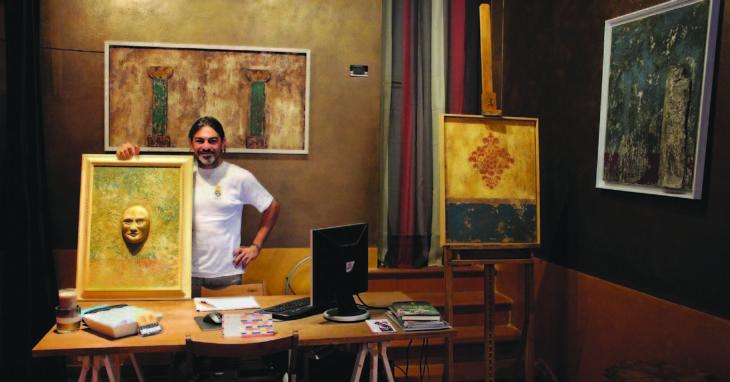 Da imbianchino ad artista, i muri antichi rinascono sulle tavole del dozzese Giuseppe Giaquinta