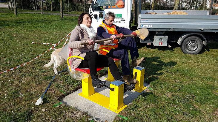 Boschetto dinAmico, domani l'inaugurazione dello spazio verde per far pedalare gli anziani