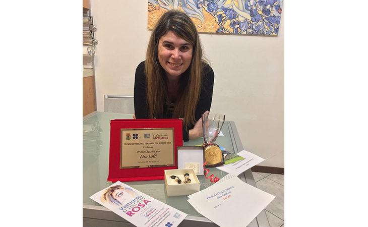 Lisa Laffi, la scrittrice imolese premiata in Campidoglio e al Verbania for Women