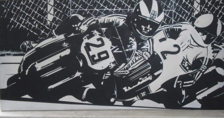 """Imola """"dalla Tosa ai box' con la mostra dell'artista Roberto Carubbi"""